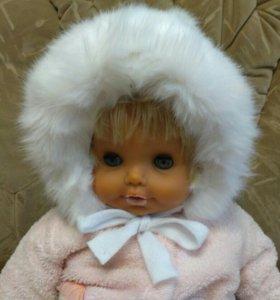 Новая зимняя шапка для девочки, р-р 50-52.