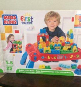 Игровой столик с конструктором Mega Bloks