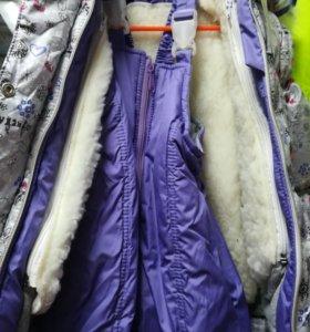 Куртка + комбинезон для девочек
