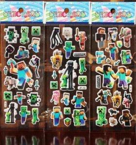 3d наклейки стикеры Майнкрафт