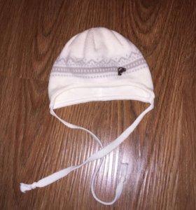 Демисезонная вязаная шапочка для мальчика р. 38-40