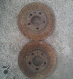 Тормозные диски(передние) пассат б5 б5+