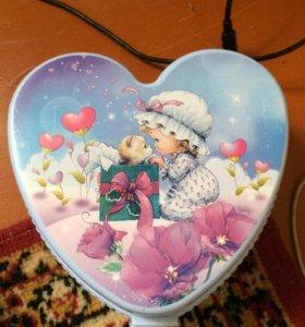 Шкатулка для девочки голубая