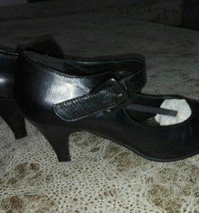 туфли из натуральной кожи, 36р.