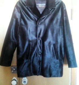 Зимняя куртка с воротником из нерпы
