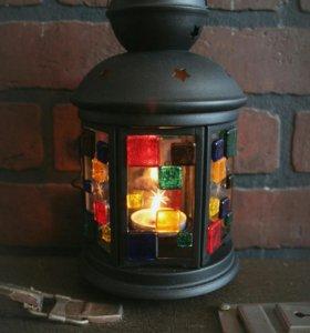 Рождественский фонарик подсвечник