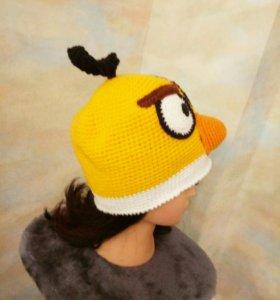 """Вязанная шапка """"Angry Birds"""""""