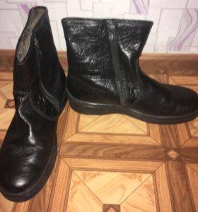 Зимние мужские кожаные ботинки 45р СРОЧНО