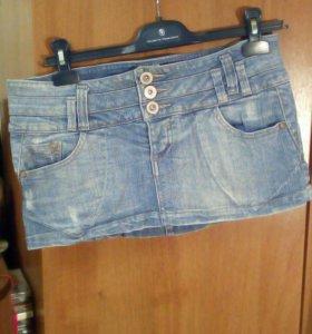 Юбка,мини, джинсовая