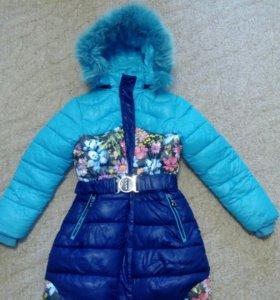 Зимнее пальто на девочку❄⛄
