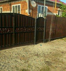 Ворота,и забор