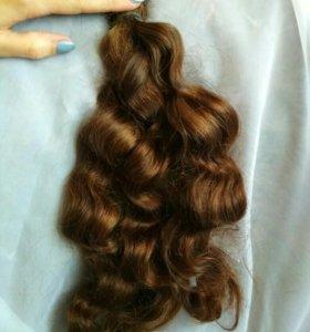 Натуральные волосы на срезе