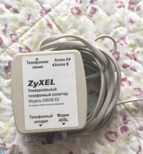 Wi-Fi роутер с ADSL модемом ZyXEL