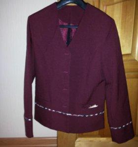 Школьный пиджак без пуговиц