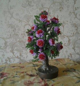 Цветок из бисира