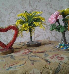 Из бисира цветки