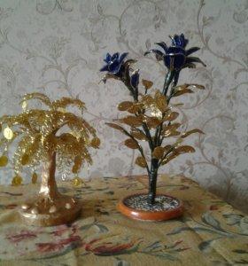 Цветки из бисира
