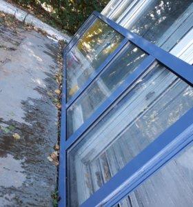 Алюминий стеклопакет окно перегородка