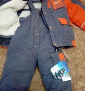 Зимний костюм на 86-92р
