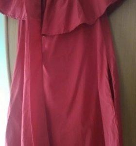 Летнее красное платье