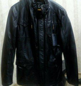 Куртка мужская из к/з зимняя