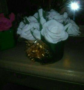 Цветы из гофро бумаги