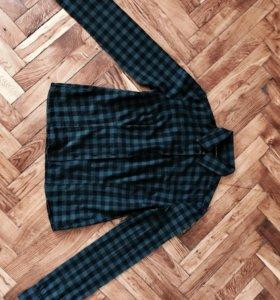 рубашка в черно-зеленую клетку Саlliope, М