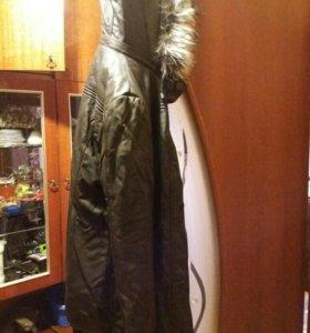 Куртка женская зимняя кожаная