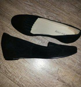 Туфли новые(замша)