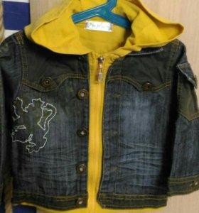 Джинсовые куртка размер 110