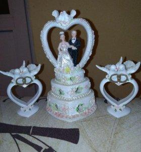 Свадебные статуэтки, аксессуары