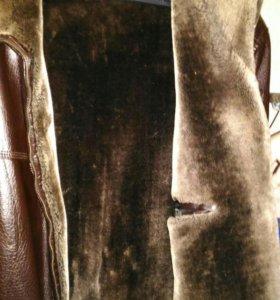 Куртка кожаная мужская зимняя р.58-60
