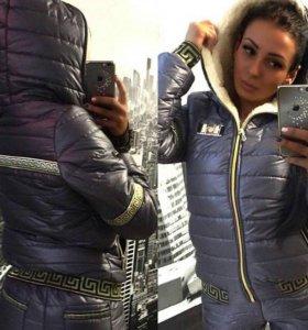 Лыжный теплый спортивный костюм