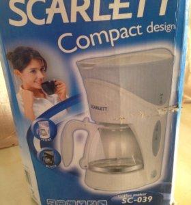 Кофеварка новая scarlett