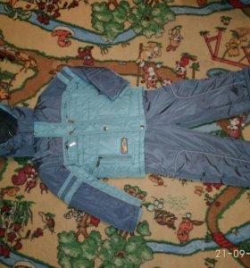Комплект куртка+полукомбинезон,зима, 3л-5 л