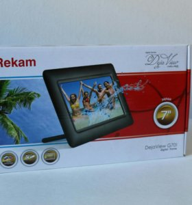 Новая Цифровая Фоторамка Rekam Deja view G701