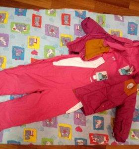 Зимняя куртка и комбез р-р 90 на 2 года