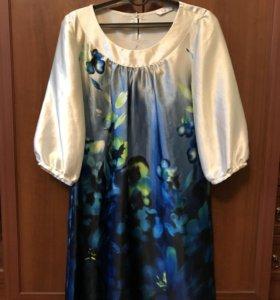 платье с цветами, р-р М