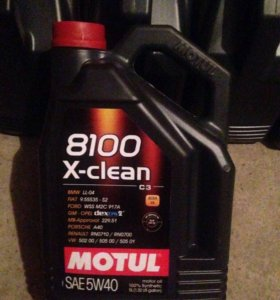 Моторное масло Motul 8100 x-clean SAE 5w40 5л.