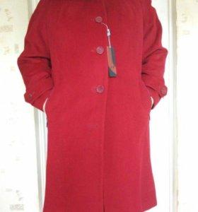 Пальто женское с капюшоном 52,54,56