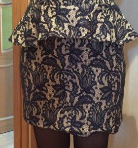 Нарядная юбка с баской