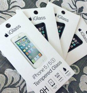 Стекло для iPhone 4/4S, 5/5S/SE, 6/6S, 7/7S 6+/7+