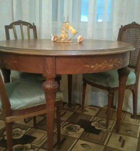 Круглый раскладной стол