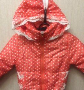 Куртка на девочку 104-110
