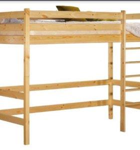 Кровать - чердак односпальная