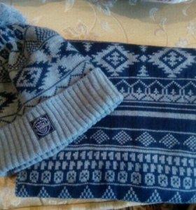 Шапка, шарф мужской
