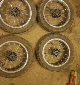 Камерные колёса для детской коляски.