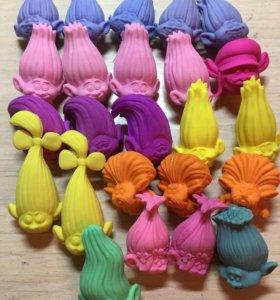 Игрушки-ластики Тролли