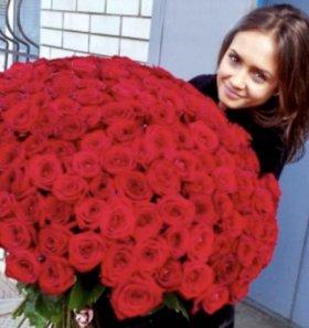 Срезанные Розы напрямую из теплиц цветы