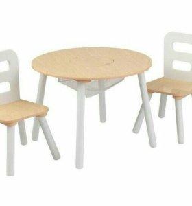 Новый Комплект,стол +2 стула,новый в упаковке!!